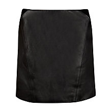 Buy Ted Baker Austine Leather Mini Skirt, Black Online at johnlewis.com