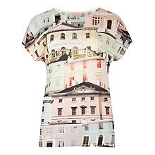 Buy Ted Baker Keepa Regency Houses Print Tee, Light Grey Online at johnlewis.com