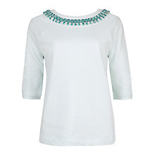 Buy Ted Baker Emmlee Embellished Sweatshirt, Mint Online at johnlewis.com