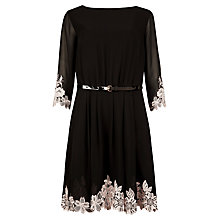 Buy Ted Baker Feay Heavy Lace Dress, Black Online at johnlewis.com
