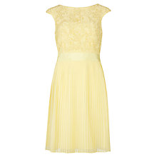 Buy Ted Baker Aliana Lace Detail Dress, Lemon Online at johnlewis.com