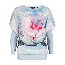 Buy Ted Baker Leeh Cubist Floral Print Jumper, Powder Blue Online at johnlewis.com