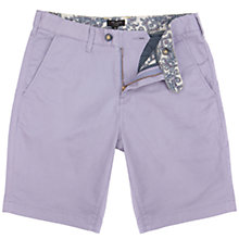 Buy Ted Baker Bagent Chino Shorts, Lilac Online at johnlewis.com
