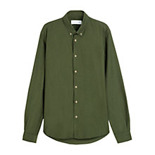 Buy Jigsaw Slim Fit Oxford Shirt, Olive Online at johnlewis.com