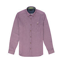 Buy Ted Baker Supofly Striped Shirt, Deep Purple Online at johnlewis.com