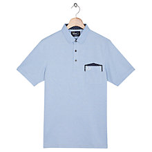 Buy Fred Perry Patch Pocket Penny Collar Shirt, Light Smoke Online at johnlewis.com