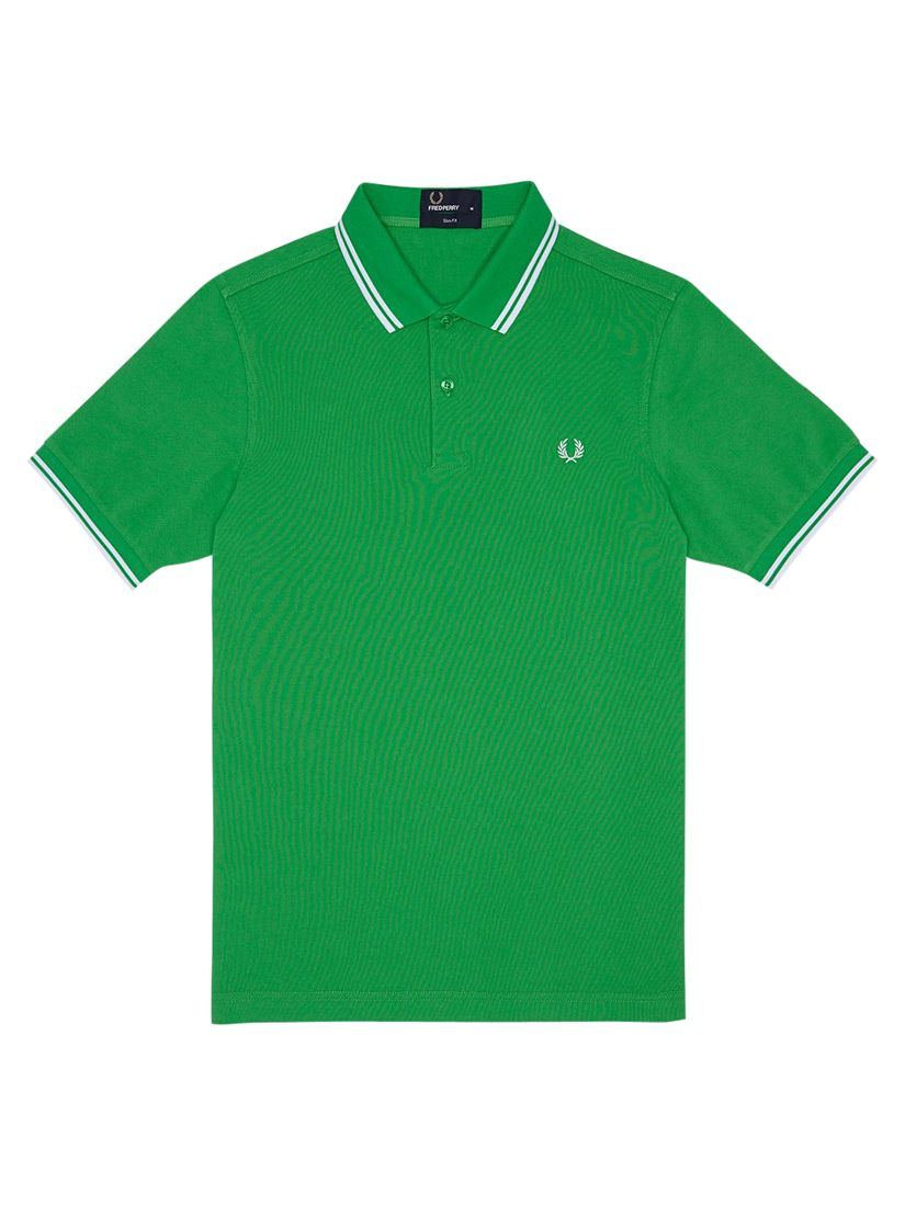 Fred Perry Twin Tipped Slim Fit Polo Shirt Fern Green