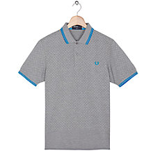 Buy Fred Perry Polka Dot Hem Shirt, Steel Marl Online at johnlewis.com