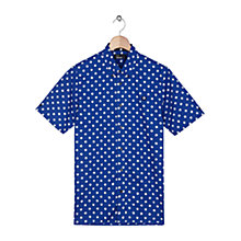 Buy Fred Perry Polka Dot Print Short Sleeve Shirt, Regal Online at johnlewis.com