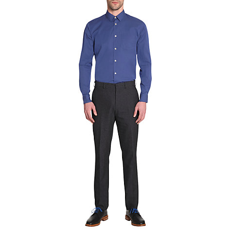 Buy Jigsaw Slim Fit Small Collar Shirt, Blue Online at johnlewis.com