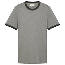 Buy Jigsaw Contrast Trim Melange T-Shirt, Mel Grey Online at johnlewis.com