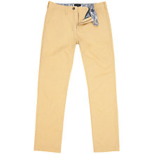 Buy Ted Baker Twiltro Cotton Twill Trousers, Yellow Online at johnlewis.com