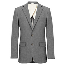 Buy Jigsaw Broken Check Slim Fit Linen Suit Jacket, Grey Online at johnlewis.com