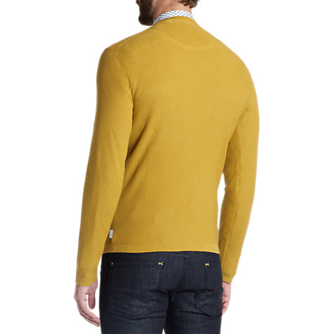 Buy Ted Baker Kales Textured Crew Neck Jumper, Gold Online at johnlewis.com