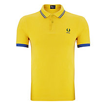 Buy Fred Perry Brazil Country Polo Shirt, Bright Yellow Online at johnlewis.com
