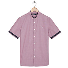 Buy Fred Perry Polka Roasgrain Short Sleeve Shirt, Light Port Online at johnlewis.com