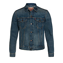 Buy Levi's Slim Fit Trucker Jacket, Blue Pines Online at johnlewis.com