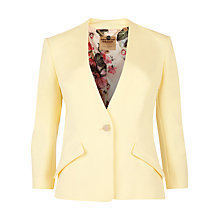 Buy Ted Baker Ellsie Curved Hem Jacket, Lemon Online at johnlewis.com
