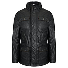 Buy John Lewis Man Waxed Cotton 2-in-1 Jacket, Black Online at johnlewis.com