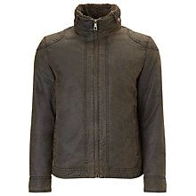 Buy John Lewis Faux Borg Shortie Jacket, Brown Online at johnlewis.com