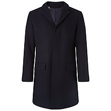 Buy Kin by John Lewis Herringbone Wool Coat, Navy Online at johnlewis.com