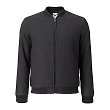 Buy Kin by John Lewis Quilted Bomber Jacket, Charcoal Online at johnlewis.com