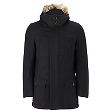 Buy John Lewis Hooded Wool Parka, Charcoal Online at johnlewis.com