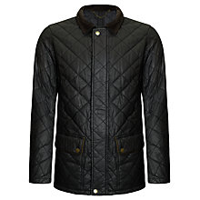 Buy John Lewis Wax Quilted Walking Jacket, Black Online at johnlewis.com