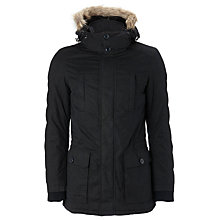 Buy John Lewis Hooded Cotton Parka, Navy Online at johnlewis.com