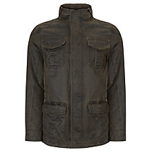 Buy John Lewis Faux Four Pocket Borg Collar Coat, Brown Online at johnlewis.com