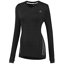 Buy Adidas Response Long Sleeve T-Shirt, Black Online at johnlewis.com