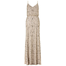 Buy Adrianna Papell Beaded Maxi Dress, Nude Online at johnlewis.com