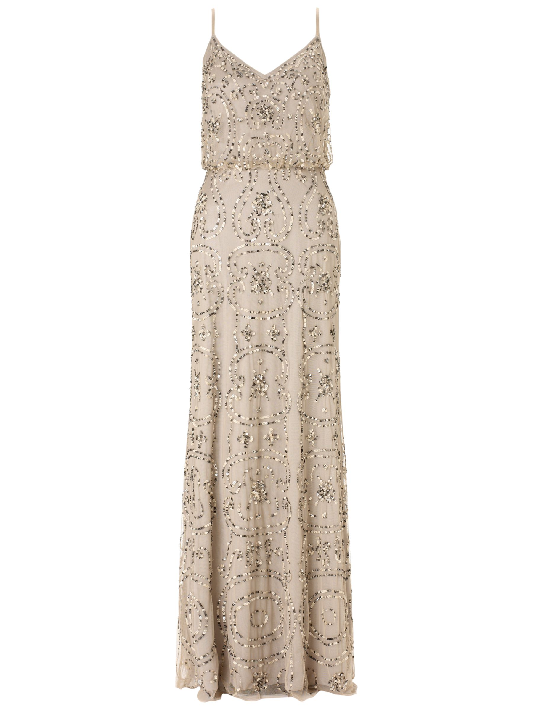 buy papell beaded maxi dress lewis