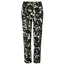 Buy Jigsaw Printed Tulip Trousers, Green Online at johnlewis.com
