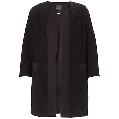 Buy Adrianna Papell Open Front Contrast Jacket, Black Online at johnlewis.com