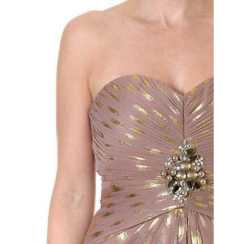 Buy Adrianna Papell Mermaid Dot Gown Dress, Tan Multi Online at johnlewis.com