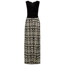 Buy Hobbs Connie Maxi Dress, Black/Dark Ivory Online at johnlewis.com