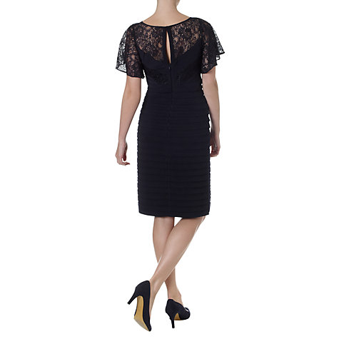 Buy Adrianna Papell Flutter Sleeve Banded Sheath Dress, Navy Online at johnlewis.com