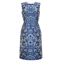 Buy Hobbs Invitation Rosetta Dress, Blue Online at johnlewis.com