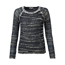 Buy Jigsaw Cotton Ink Dye Sweater, Navy Online at johnlewis.com