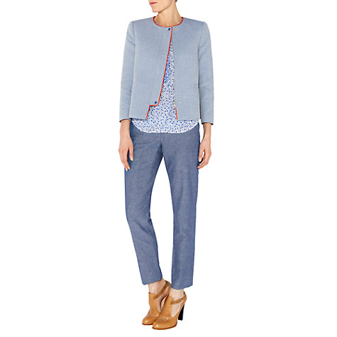 Buy NW3 by Hobbs Slim Trousers, Chambray Online at johnlewis.com
