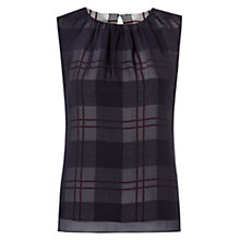 Buy Hobbs Silk Isabelle Top, Black Multi Online at johnlewis.com