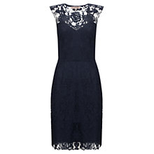 Buy Jigsaw Lace Applique Dress, Navy Online at johnlewis.com