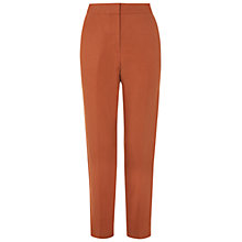 Buy Hobbs Emily Silk Blend Trousers, Burnt Orange Online at johnlewis.com
