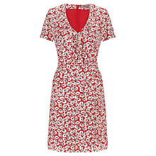 Buy Jigsaw Silk Tea Dress, Red Online at johnlewis.com