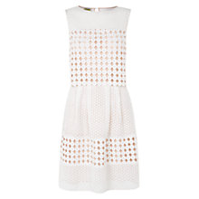 Buy Hobbs Circle Lace Dress, Ivory Pink Online at johnlewis.com