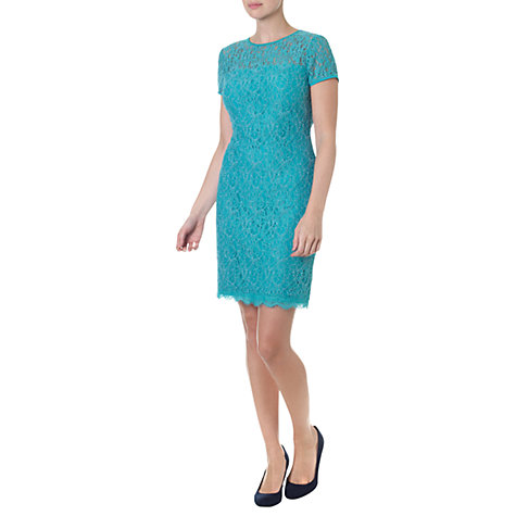 Buy Adrianna Papell Illusion Lace Dress, Jade Online at johnlewis.com