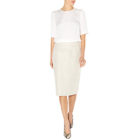 Buy Hobbs Analise Skirt, Natural Online at johnlewis.com