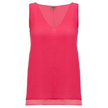 Buy Jigsaw Double Layer Shell top, Bright Pink Online at johnlewis.com