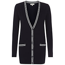 Buy Hobbs Britannia Cardigan, Navy/Ivory Online at johnlewis.com